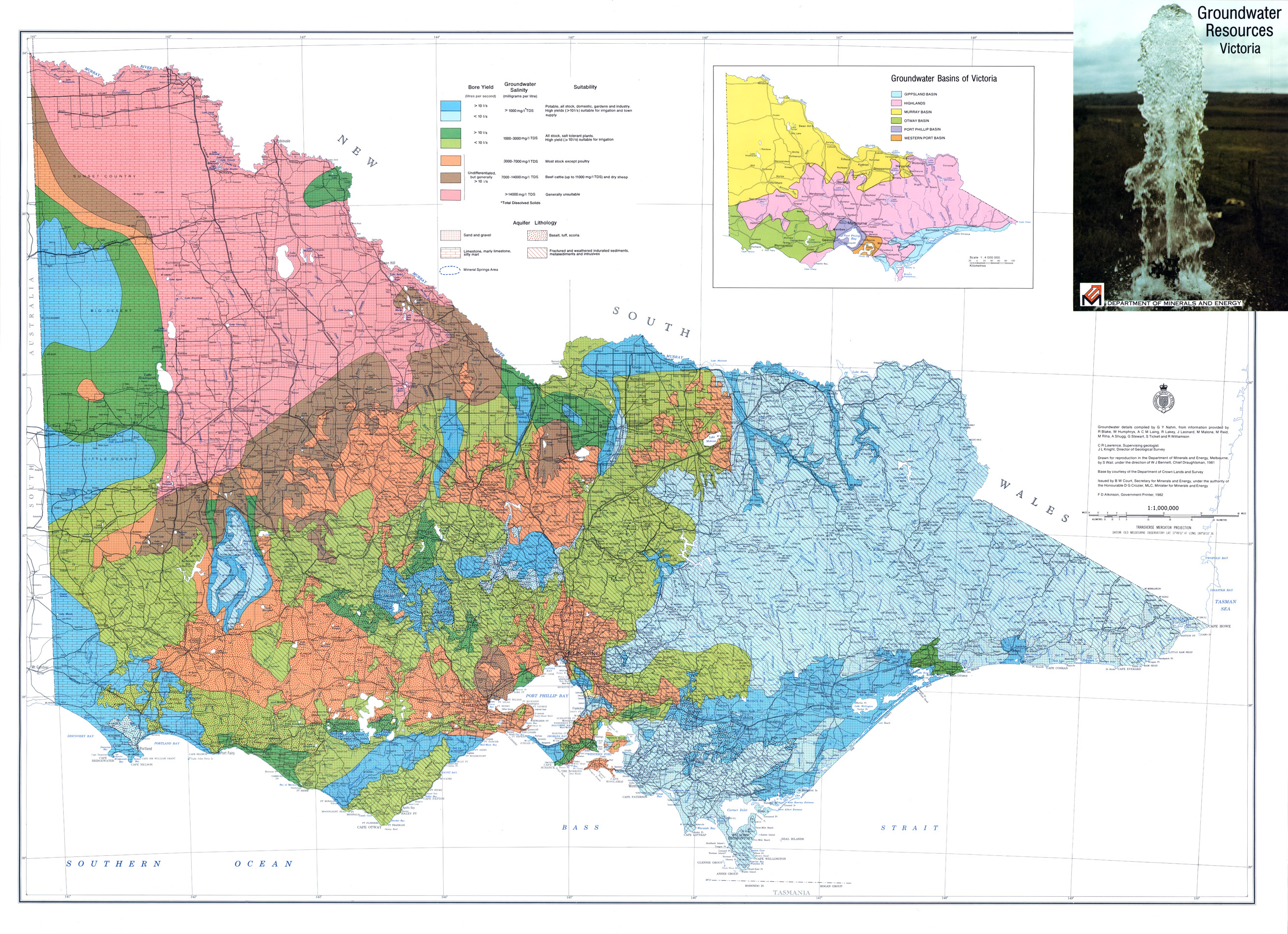 Earth Resources Energy and Earth Resources – Map Victoria Australia